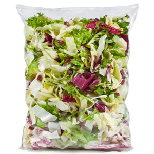 Disponiamo di diverse linee di insalate e verdure in busta